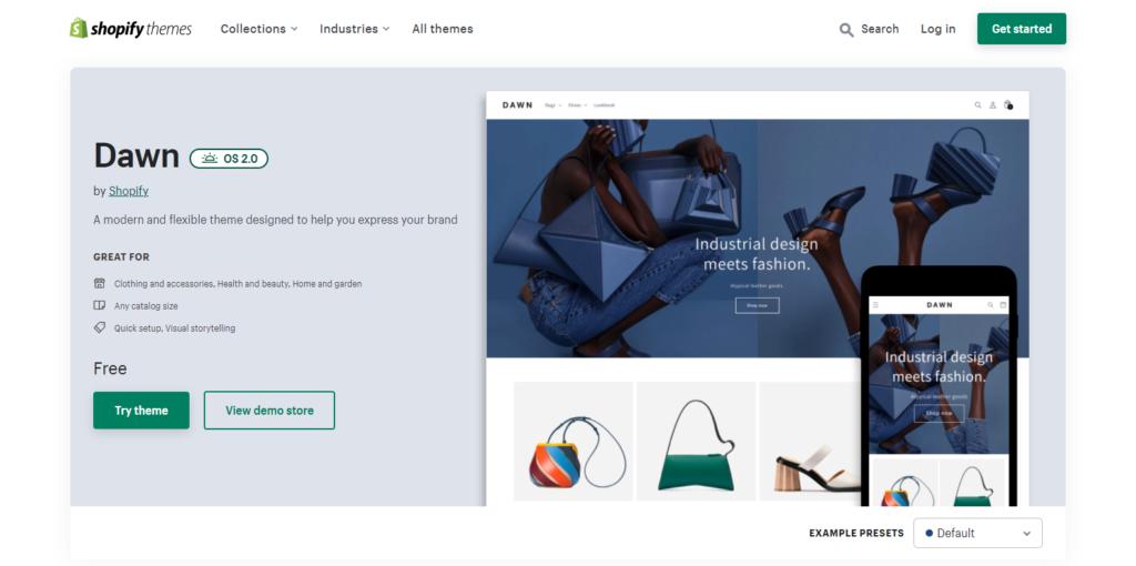 Nowy motyw referencyjny Shopify 2.0 Dawn